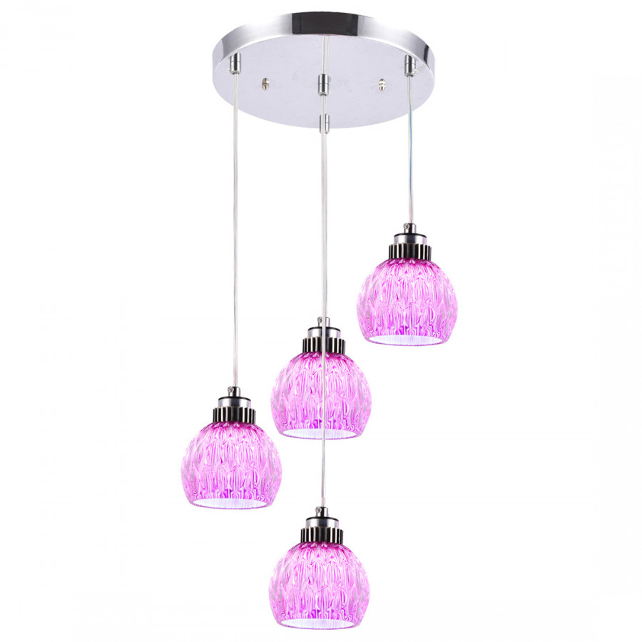 You Tao Lighting Led Purple Powder Glass Restaurant Chandelier 28W (With Light Source) Md129-4
