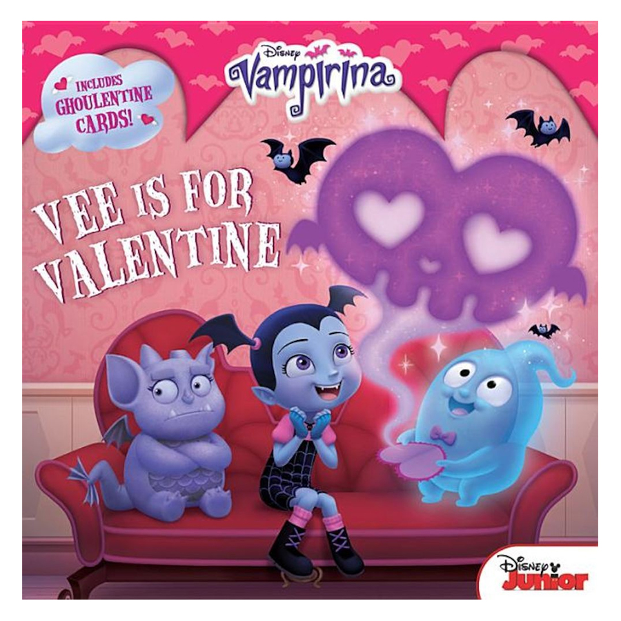 Vampirina Vee is for Valentine  8x8 with Punch-o