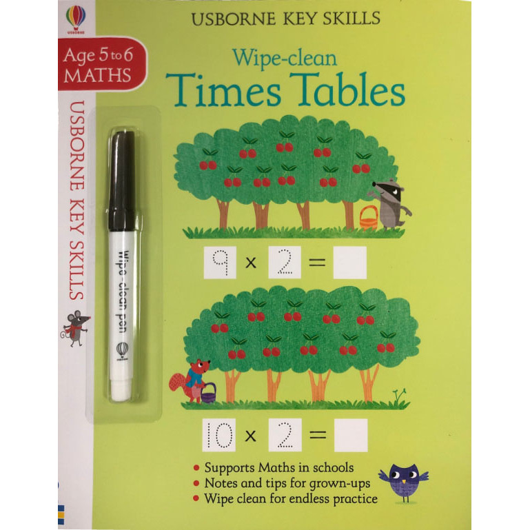 Wipe-clean Times Tables (Maths Age 5-6)
