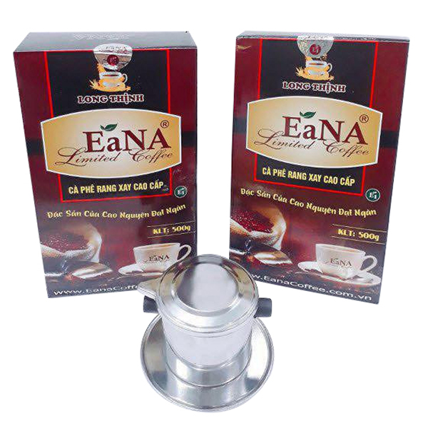 Combo 2 hộp Café ( 500g ) Rang Xay Nguyên Chất 100% Eana Coffee (tặng Phin)