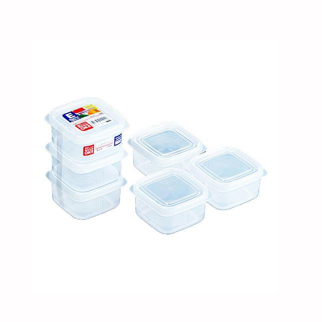 Set 3 hộp nhựa vuông 200ml Nhật Bản