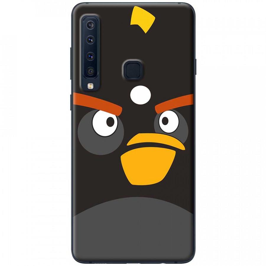 Ốp lưng dành cho Samsung Galaxy A9 (2018) mẫu Mặt Angry bird đen