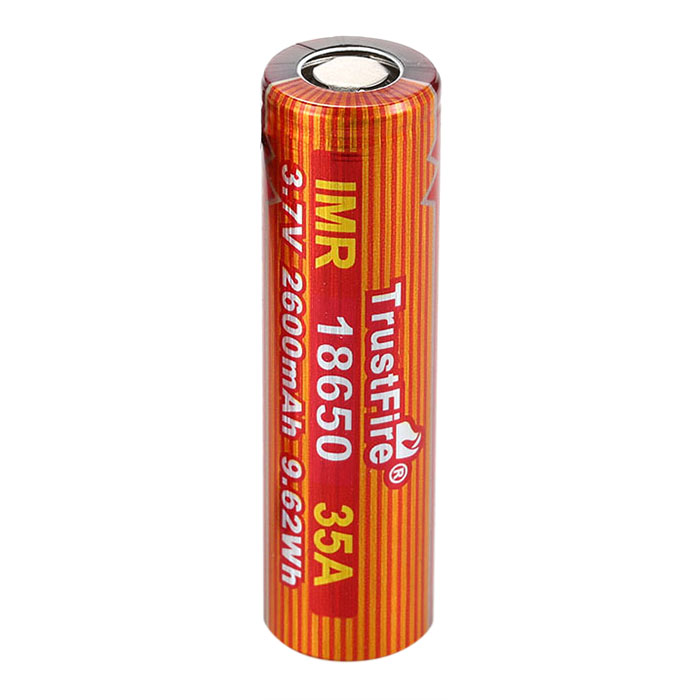 1 Piece Of  TrustFire IMR 18650 Battery 2600mAh 3.7V 40A High-Rate Rechargeable Li-ion Battery for LED Flashlight