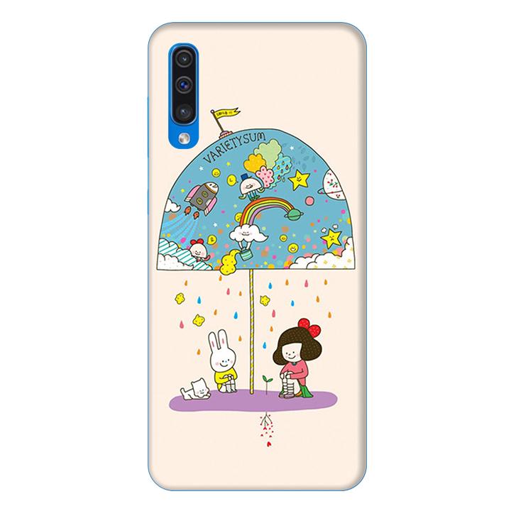 Ốp lưng dành cho điện thoại Samsung Galaxy A50 hình Thỏ Trắng - Hàng chính hãng