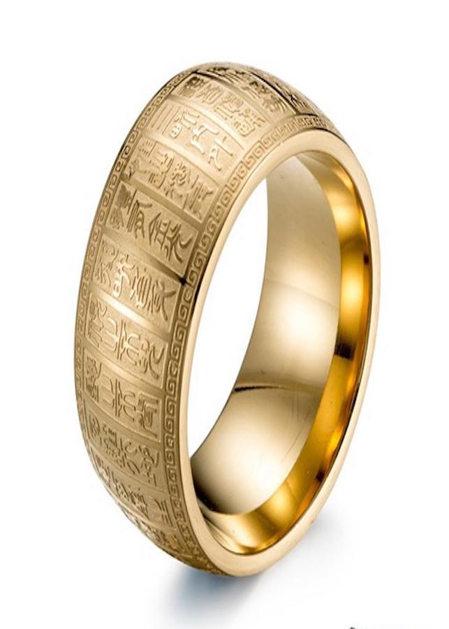 Nhẫn khắc kinh phật chữ nổi titanium không ghỉ sét không phai màu - 2272197 , 6641354177563 , 62_14570266 , 99000 , Nhan-khac-kinh-phat-chu-noi-titanium-khong-ghi-set-khong-phai-mau-62_14570266 , tiki.vn , Nhẫn khắc kinh phật chữ nổi titanium không ghỉ sét không phai màu