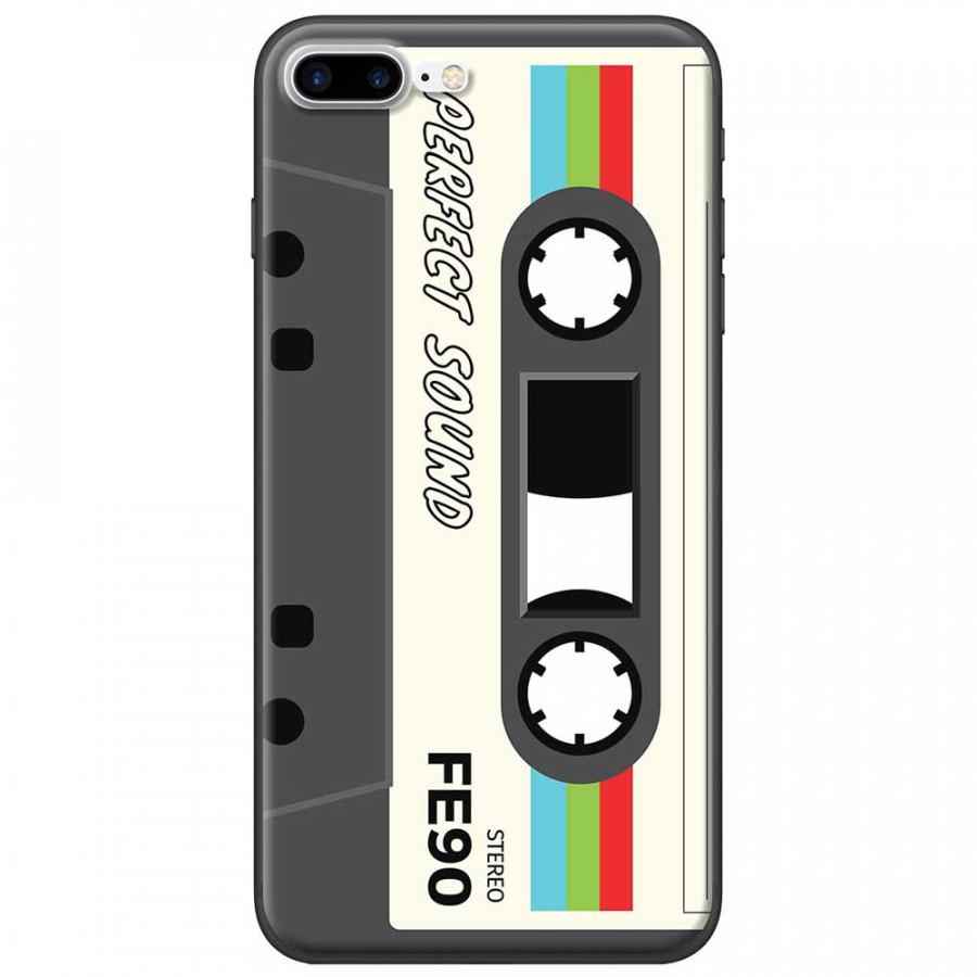 Ốp lưng dành cho iPhone 7 Plus mẫu Cassette xám trắng
