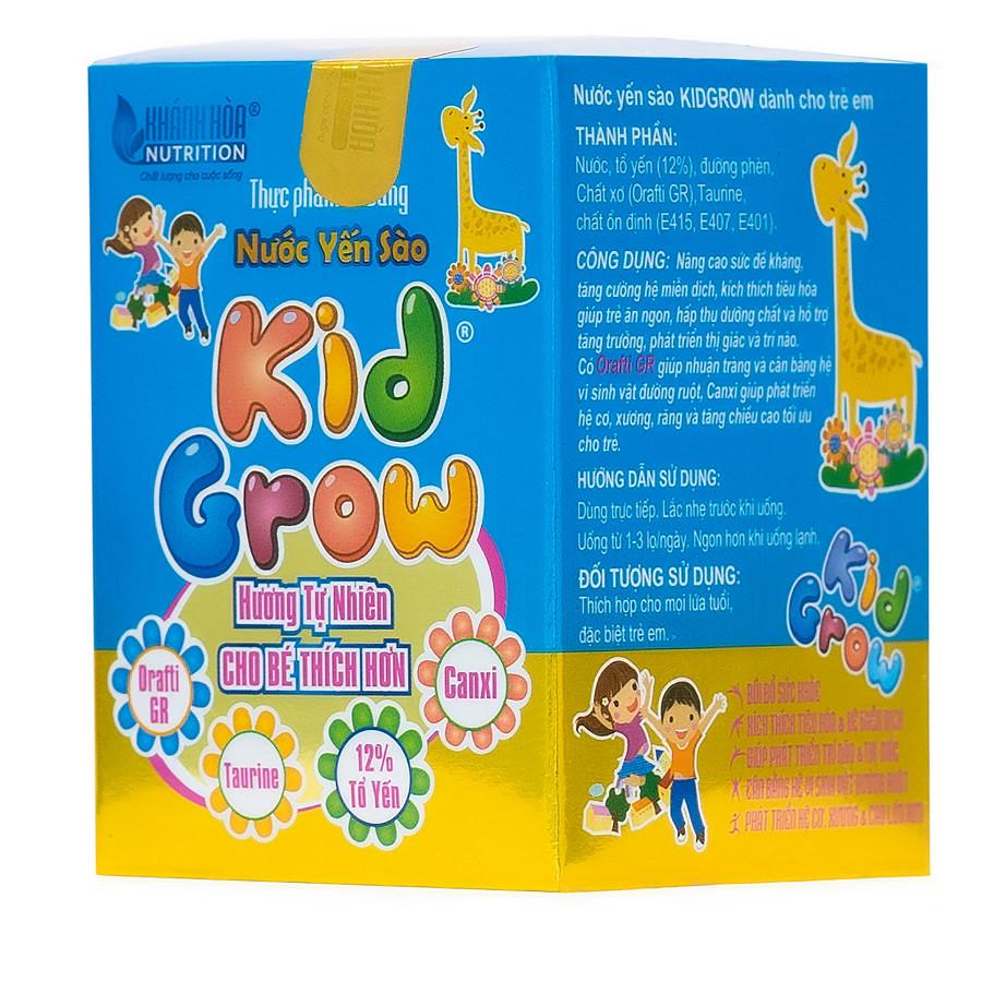 Thực phẩm bổ sung Nước Yến Sào KidGrow Hương Tự Nhiên - Lọ 70ml