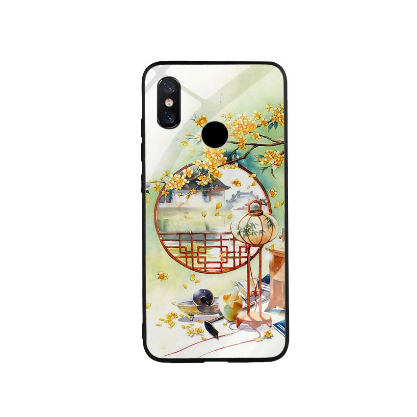Ốp Lưng Kính Cường Lực cho điện thoại Xiaomi Mi 8 - DHCL Mẫu 8