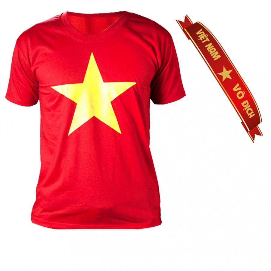 Combo Áo thun cờ đỏ sao vàng + kèm băng đô cổ động tuyển Việt Nam Sportslink - 1224712 , 6608507655781 , 62_10692028 , 160000 , Combo-Ao-thun-co-do-sao-vang-kem-bang-do-co-dong-tuyen-Viet-Nam-Sportslink-62_10692028 , tiki.vn , Combo Áo thun cờ đỏ sao vàng + kèm băng đô cổ động tuyển Việt Nam Sportslink