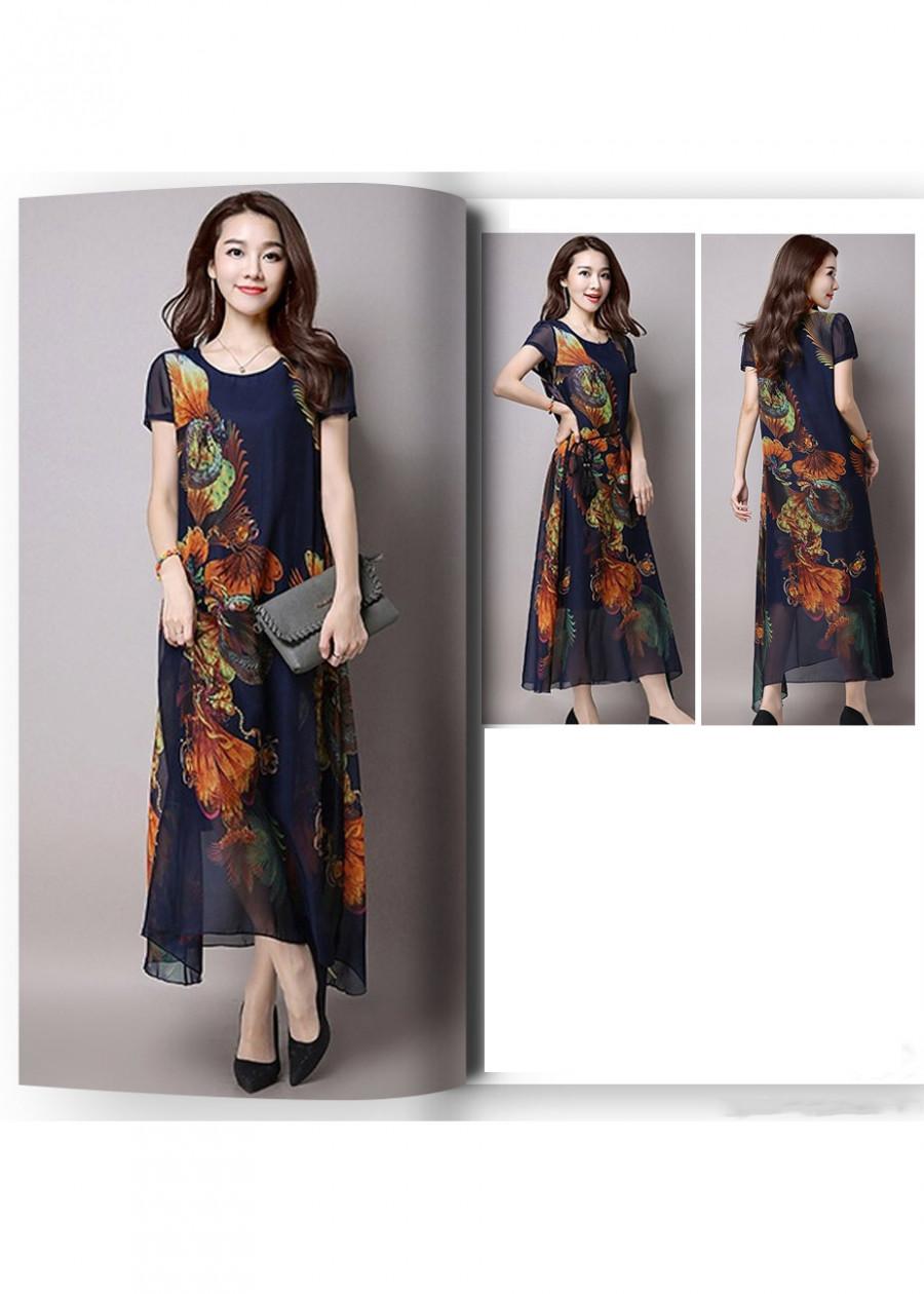 Đầm Suông Hoa Quạt DM251