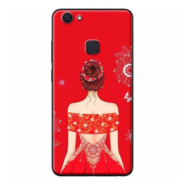 Ốp Lưng Dành Cho Điện Thoại Vivo - Cô Gái Váy Ngang Vai