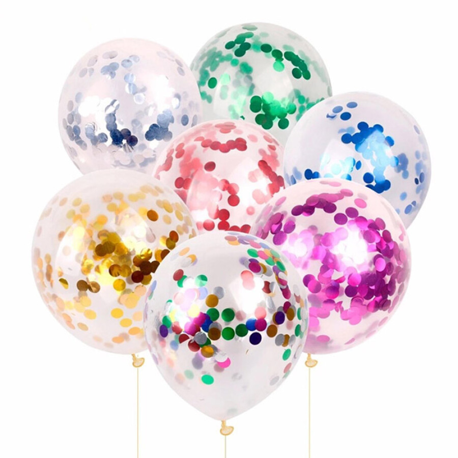 Green transparent sequin balloon Christmas New Year