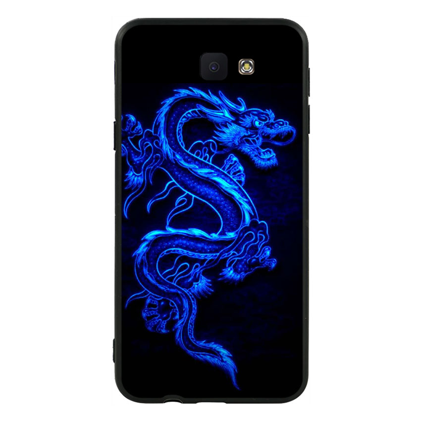 Ốp lưng nhựa cứng viền dẻo TPU cho Samsung Galaxy J5 Prime  - Dragon 01