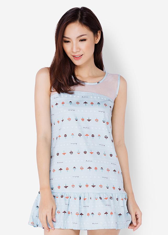 Đầm Đuôi Cá Phối Ren - Xanh Ngọc - Citino