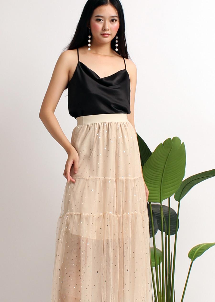 Chân váy dài ánh nhủ VD10140