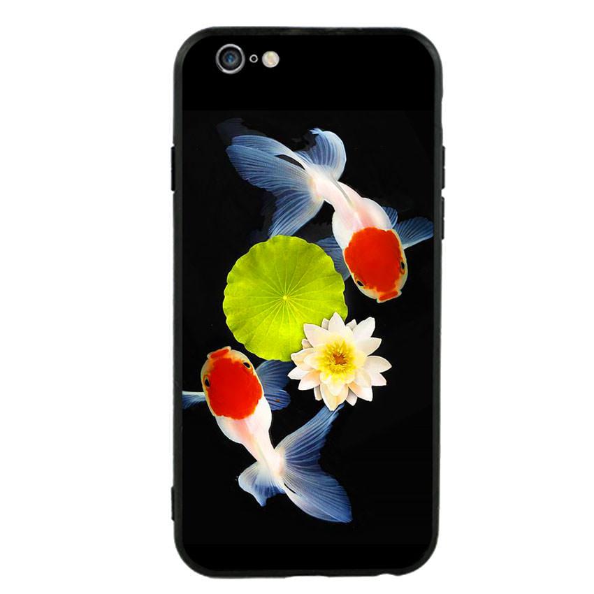 Ốp lưng nhựa cứng viền dẻo TPU cho điện thoại Iphone 6 Plus/6s Plus - Cá Koi 04