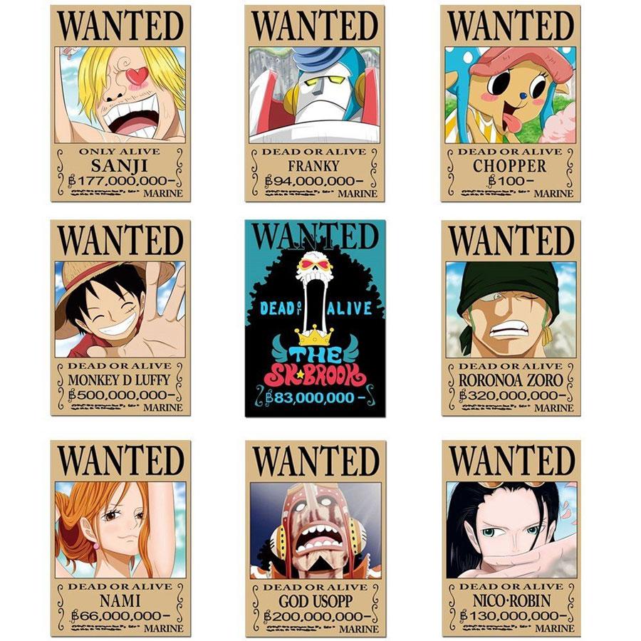 Bộ 9 tấm poster anime dán tường Wanted Băng Mũ Rơm - One Piece - 1563999 , 6092260917598 , 62_13608618 , 200000 , Bo-9-tam-poster-anime-dan-tuong-Wanted-Bang-Mu-Rom-One-Piece-62_13608618 , tiki.vn , Bộ 9 tấm poster anime dán tường Wanted Băng Mũ Rơm - One Piece