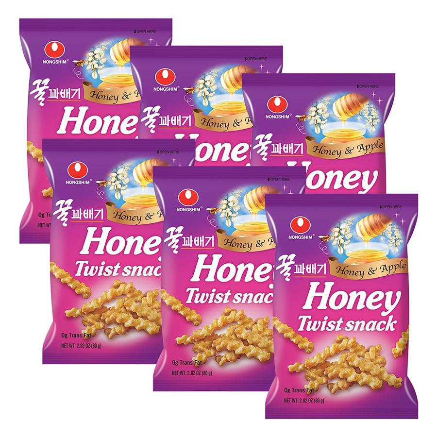 Combo 6 Gói Bánh Snack Mật Ong Nongshim (80g / Gói)