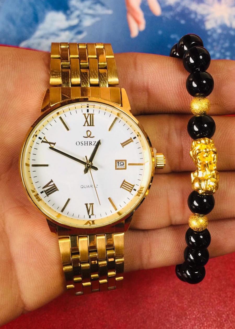 đồng hồ nam dây kim loại chống rỉ 22