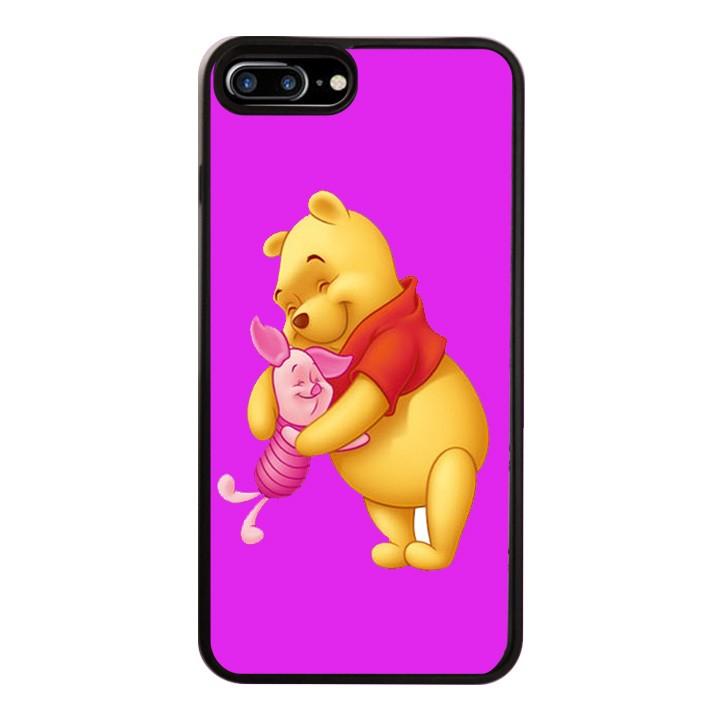 Ốp Lưng Kính Cường Lực Dành Cho Điện Thoại iPhone 7 Plus / 8 Plus Gấu Pooh Mẫu 1
