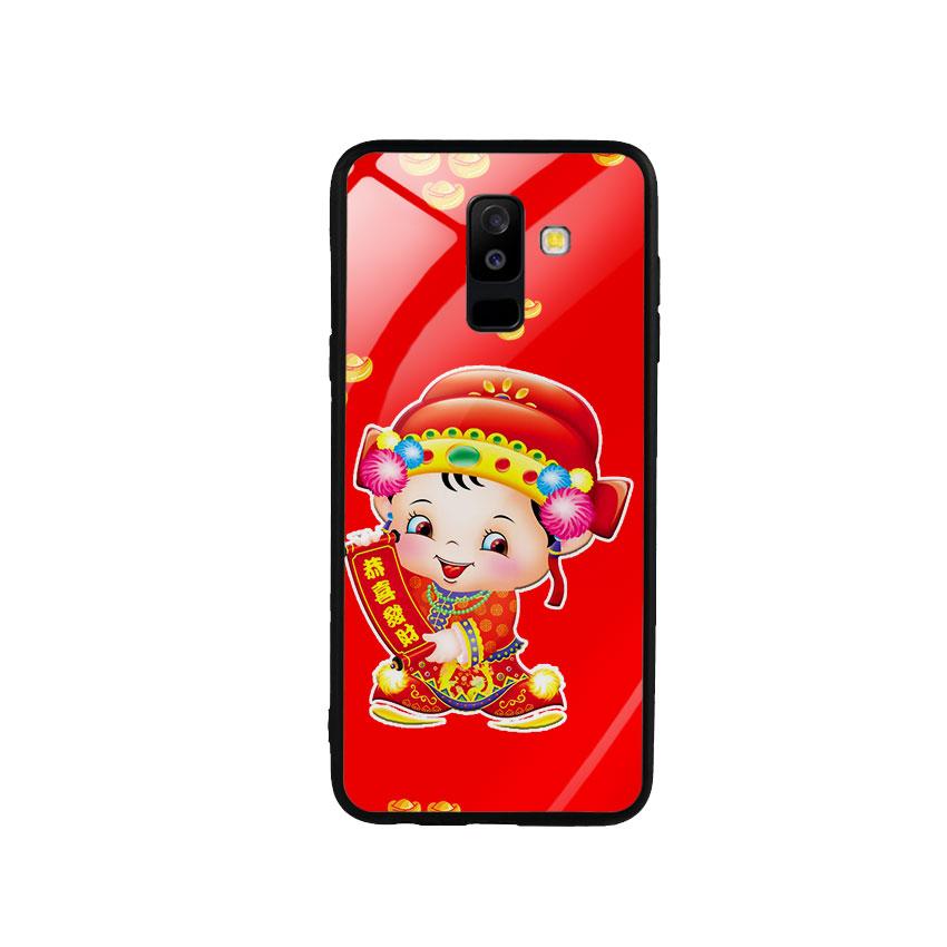 Ốp Lưng Kính Cường Lực cho điện thoại Samsung Galaxy A6 Plus 2018 - Thần Tài 05
