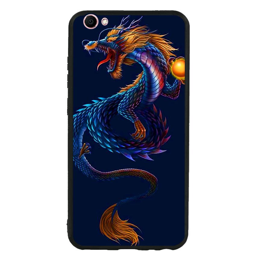Ốp lưng viền TPU cao cấp cho điện thoại Vivo V5s -Dragon 08