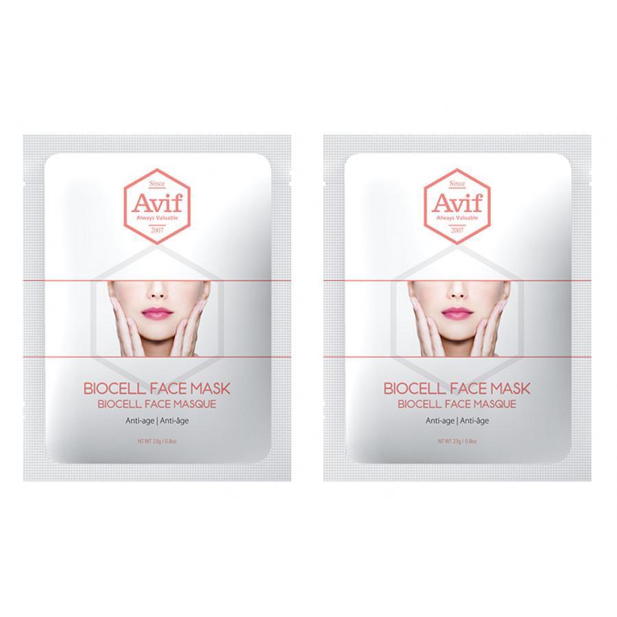 Combo 2 mặt nạ Avif biocell dưỡng da giảm lão hóa - Avif biocell anti-age face mask