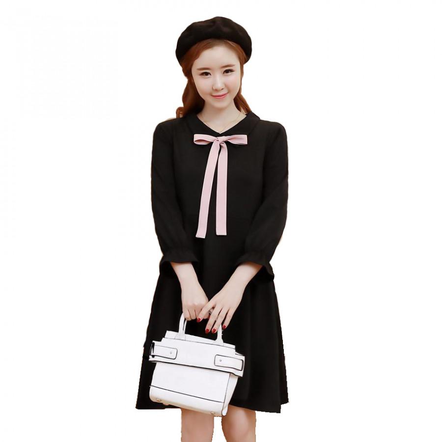 Váy Bầu Đen Tiểu Thư - MYC 1079