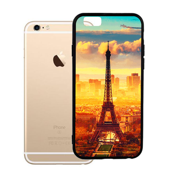 Ốp lưng viền TPU cho Iphone 6 Plus - Paris 01
