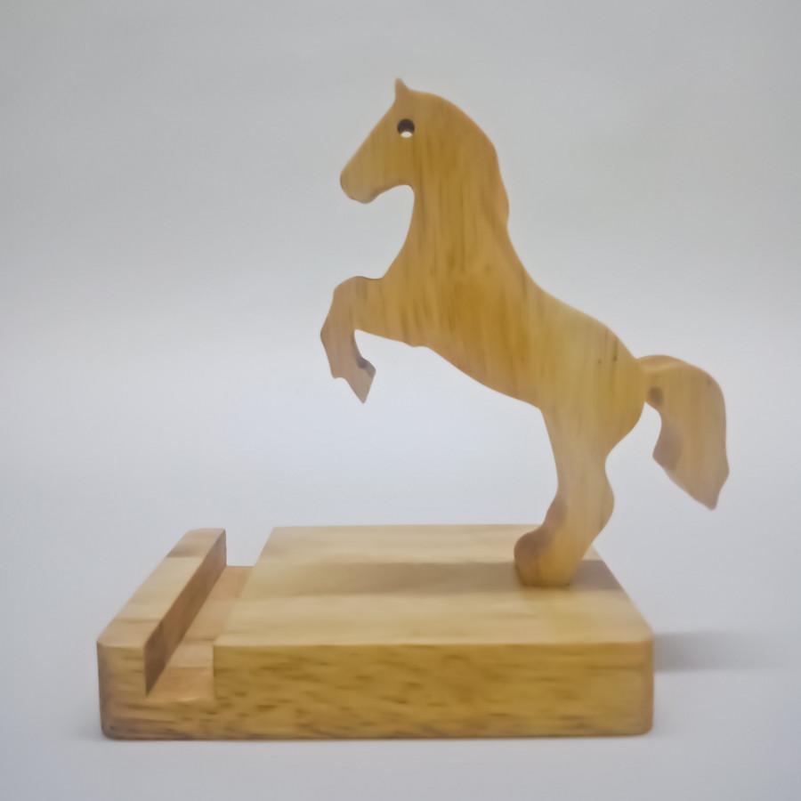 Kệ Điện Thoại Gỗ Hình Con Ngựa