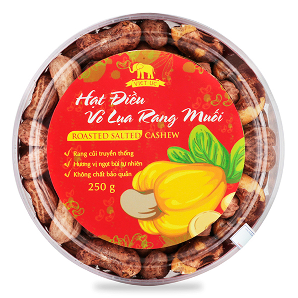 Hạt Điều Rang Muối Vỏ Lụa Viet Uc Foods (250g)