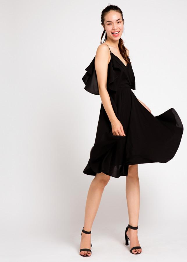 Đầm Xoè Đi Tiệc Tuyệt Đẹp Black Swan DRE041 (Đen Huyền Bí)