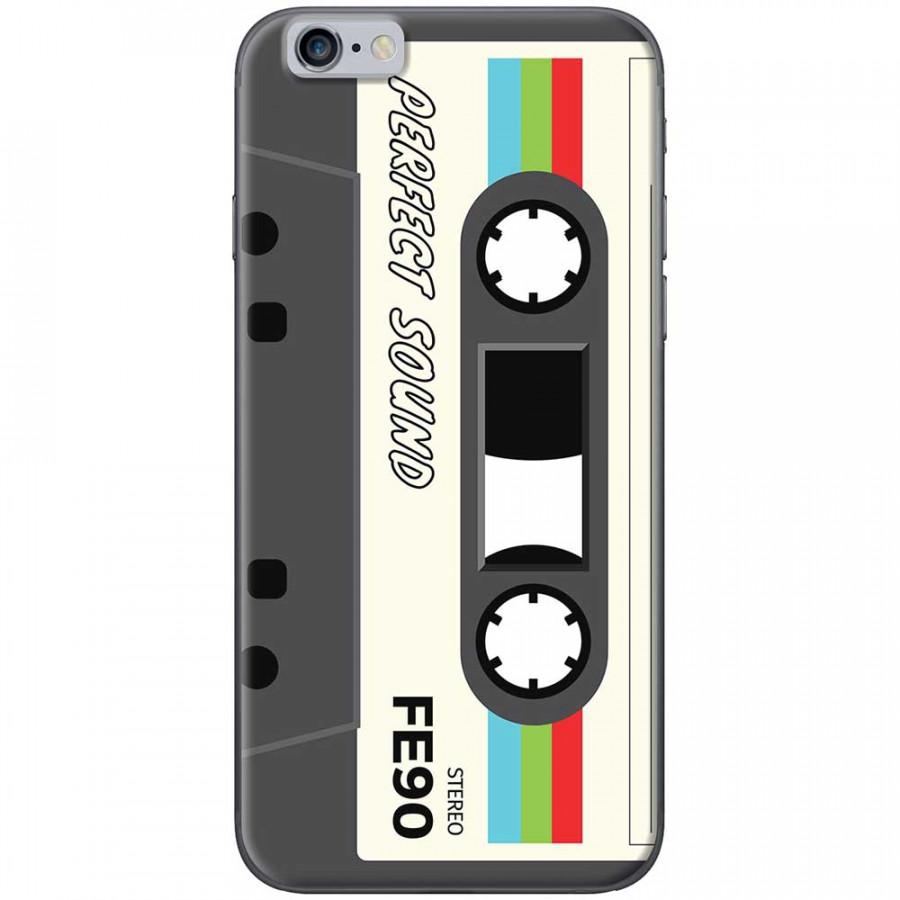 Ốp lưng dành cho iPhone 6 Plus, iPhone 6S Plus mẫu Cassette xám trắng