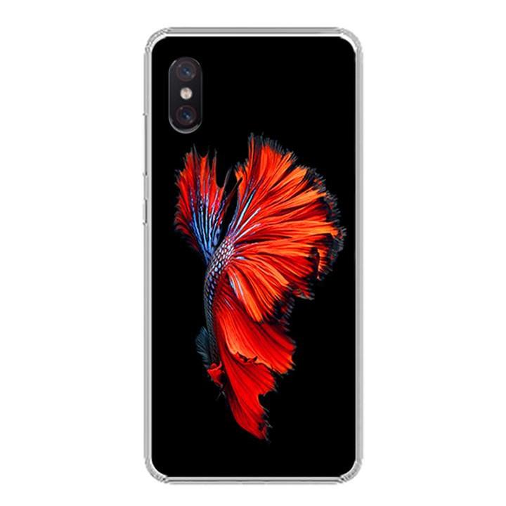 Ốp lưng cho Xiaomi Mi 8 Pro - 0303 FISH03 - Silicone dẻo - Hàng Chính Hãng