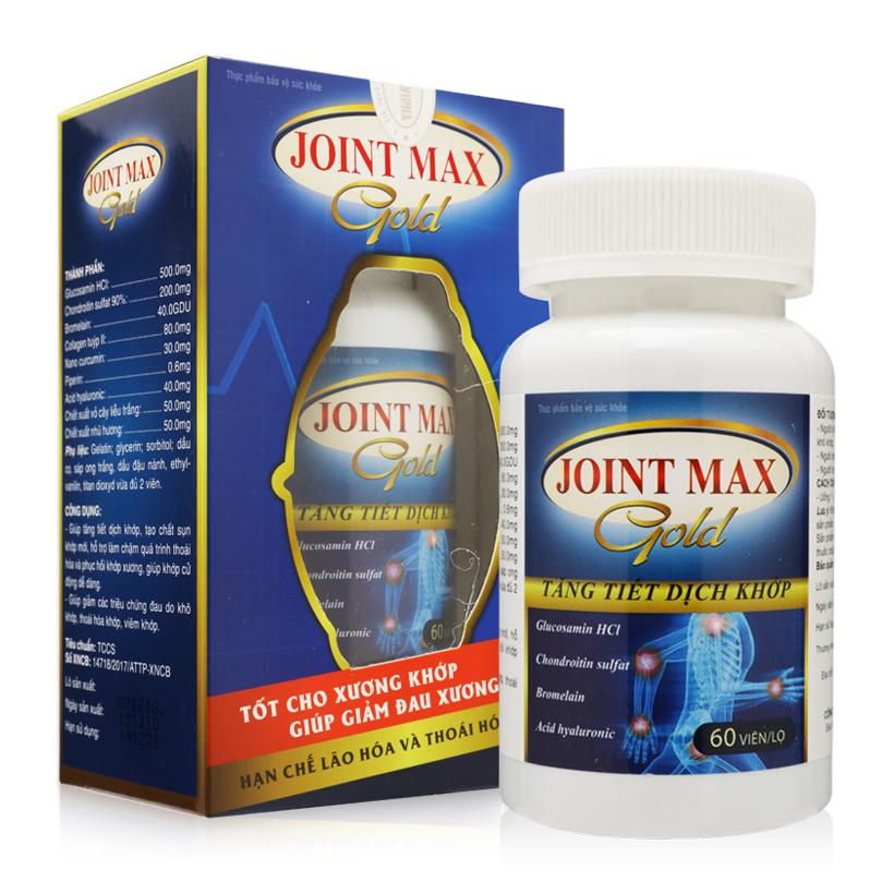 Thực phẩm chức năng: Combo 2 hộp viên uống hỗ trợ điều trị viêm xương khớp Joint max Gold Navipha