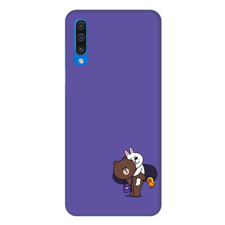 Ốp lưng dành cho điện thoại Samsung Galaxy A50 hình Gấu và Thỏ - Hàng chính hãng