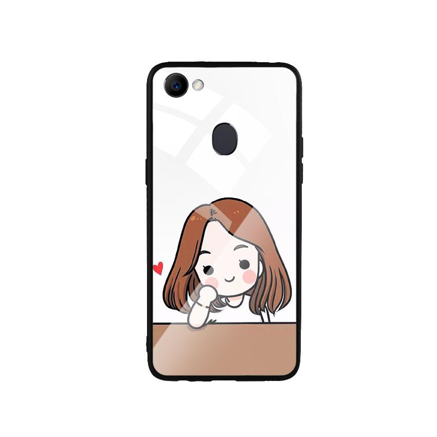 Ốp Lưng Kính Cường Lực cho điện thoại Oppo F7 - Couple Girl 03