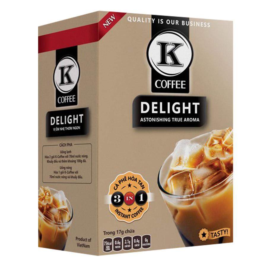 Cà Phê Hòa Tan K-Coffee Delight 3in1 (255g / Hộp) - 921110 , 8936109120054 , 62_1919493 , 50000 , Ca-Phe-Hoa-Tan-K-Coffee-Delight-3in1-255g--Hop-62_1919493 , tiki.vn , Cà Phê Hòa Tan K-Coffee Delight 3in1 (255g / Hộp)