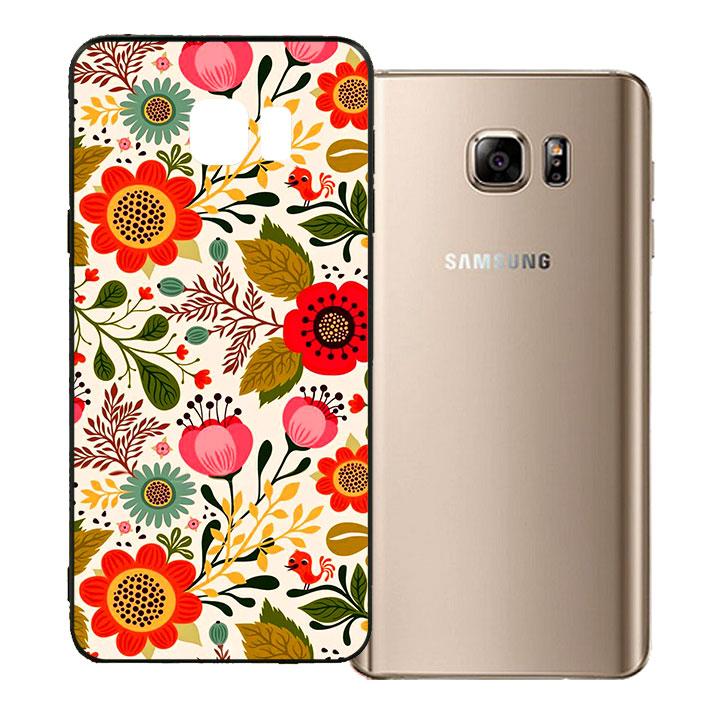 Ốp lưng viền TPU cho Samsung Galaxy Note 5 - Flower 04