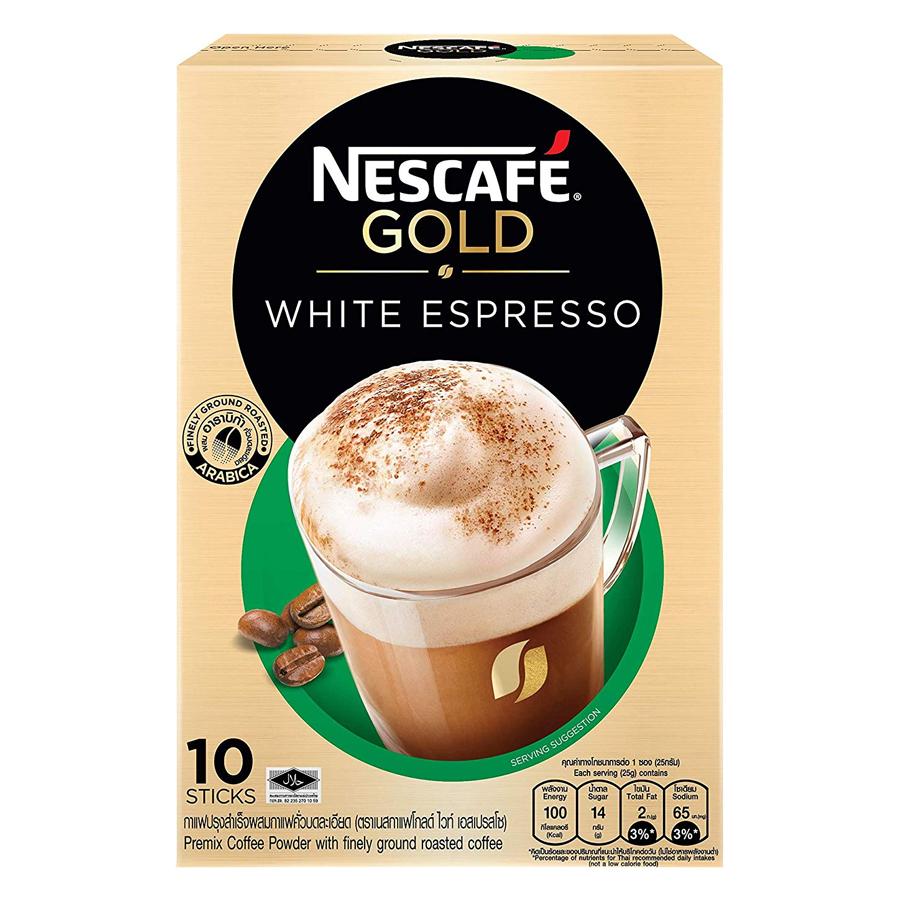 Cà Phê Hòa Tan Nestlé Gold White Espresso (10 x 25g) - 18388566 , 4091582150975 , 62_13395699 , 93000 , Ca-Phe-Hoa-Tan-Nestle-Gold-White-Espresso-10-x-25g-62_13395699 , tiki.vn , Cà Phê Hòa Tan Nestlé Gold White Espresso (10 x 25g)