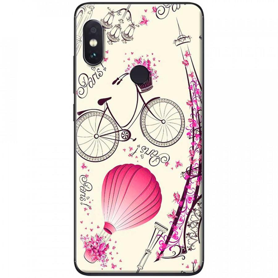 Ốp lưng dành cho Xiaomi Redmi Note 6 mẫu Khí cầu hồng Paris