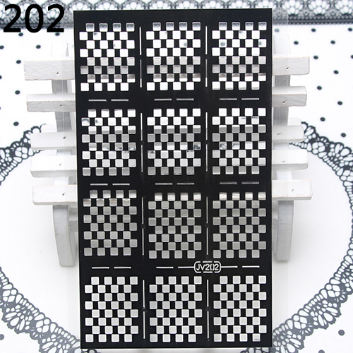 DIY Manicure Irregular Hollow Stencil Nail Art Stickers Stamp