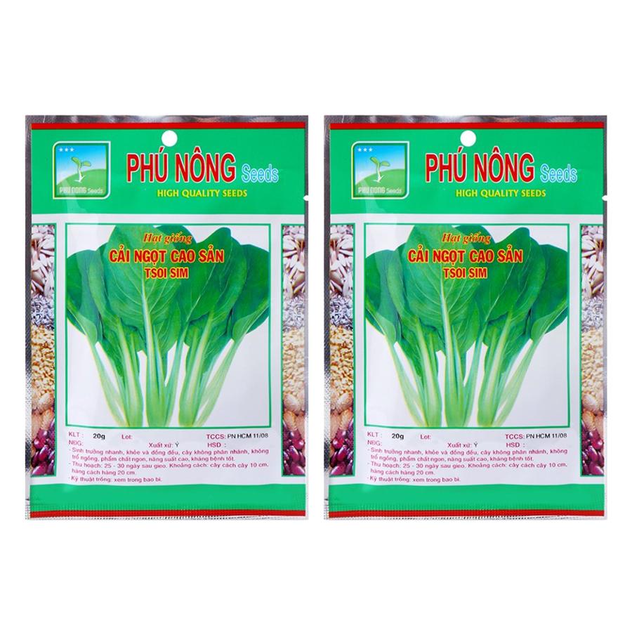 Bộ 2 Gói Hạt Giống Cải Ngọt Phú Nông (20g / Gói)