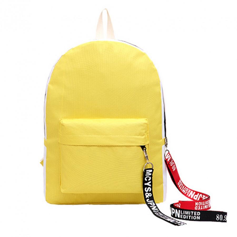 Fashion Women Girls Backpack Contrast Color Large Capacity Student Schoolbag Laptop Travel Bag