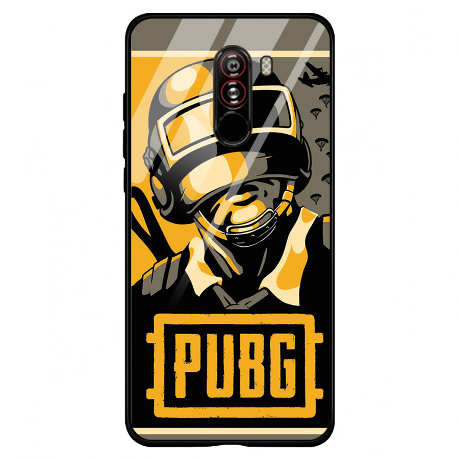 Ốp Lưng Kính Cường Lực Pocophone F1 Game PUBG - Hàng Chính Hãng