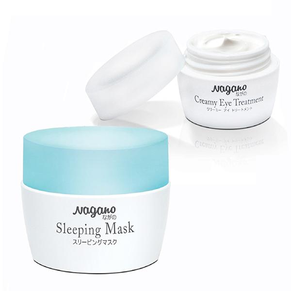 Combo kem vùng mắt và mặt nạ ngủ NAGANO