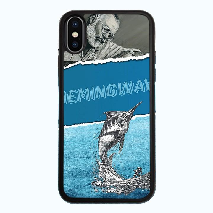 Ốp Lưng Kính Cường Lực Dành Cho Điện Thoại iPhone X Hemingway