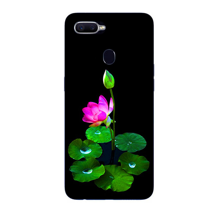 Ốp Lưng Dẻo Cho Điện thoại Oppo F9 - Lotus 02