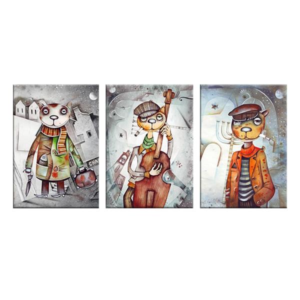 """Bộ 3 Tranh Trang Trí """"3 Chú Mèo"""" - W307"""