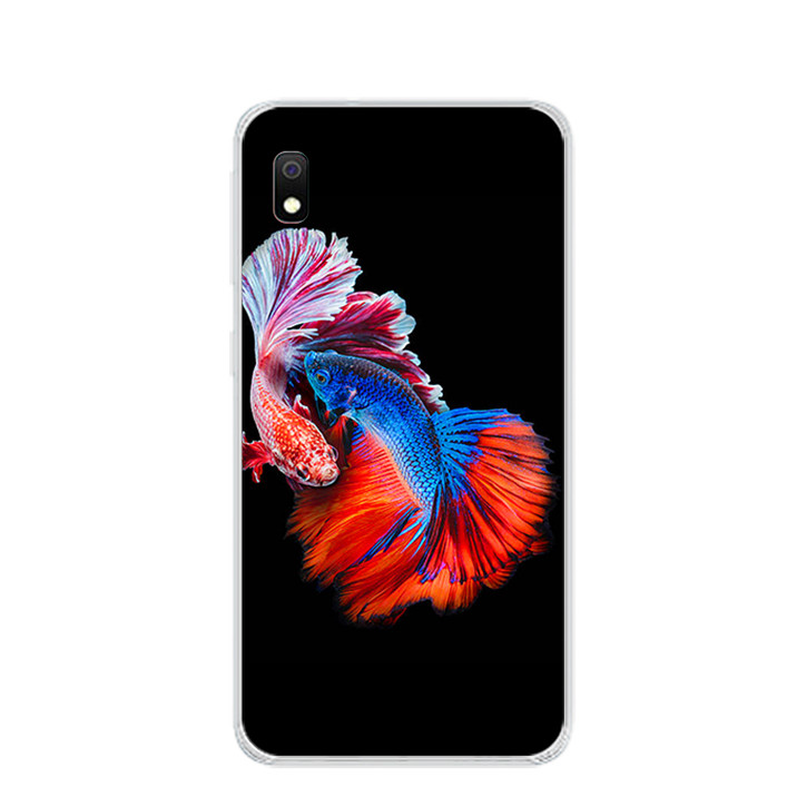 Ốp lưng dẻo cho điện thoại Samsung Galaxy A10 - 0222 FISHCOUPLE - Hàng Chính Hãng